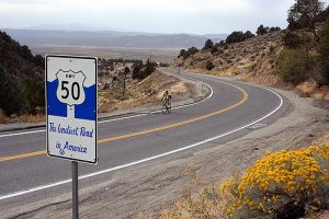 Highway 50 near Austin NV--Creative Commons License -- Photo by Bruce Fingerhood