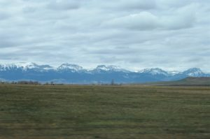 Rocky Mountains near Choteau
